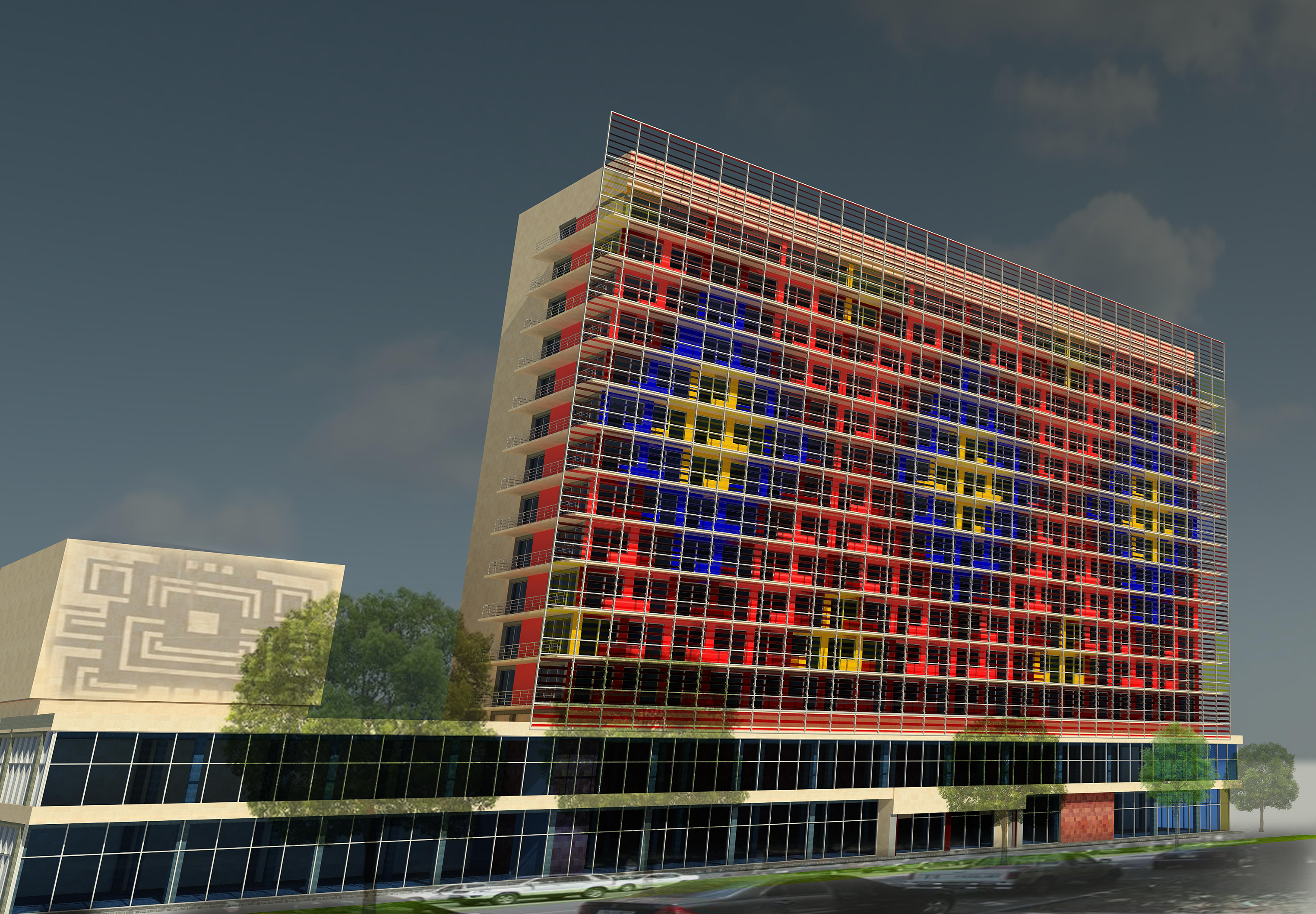 reconstruction project of the main facade of ani plaza hotel in yerevan armenia
