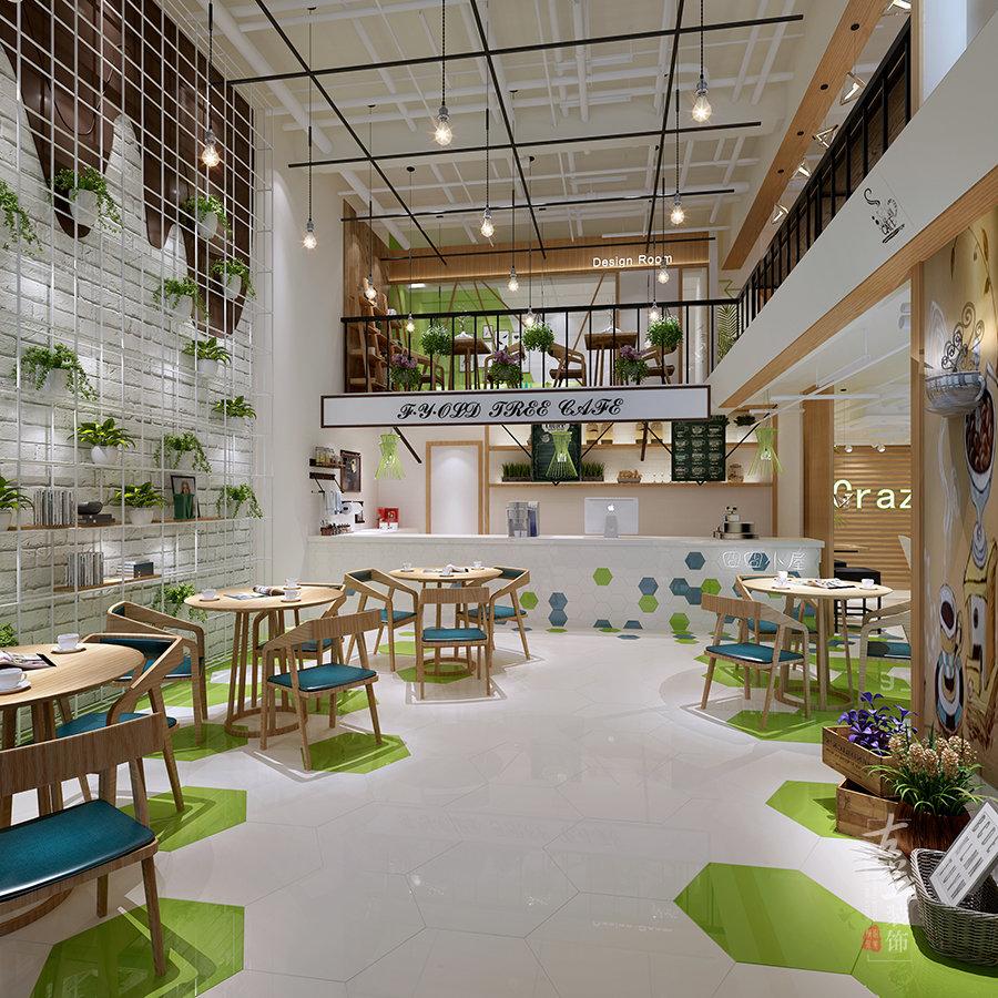 成都咖啡廳裝修設計花藝咖啡廳設計案例古蘭裝飾插图(1)