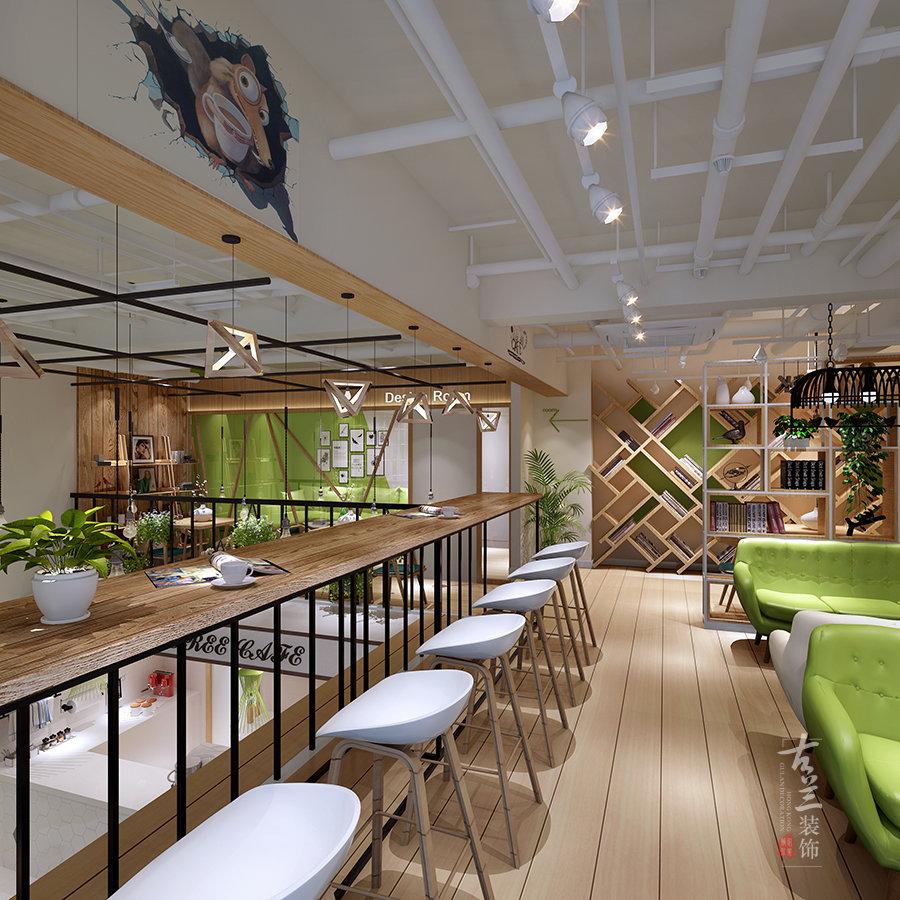 成都咖啡廳裝修設計花藝咖啡廳設計案例古蘭裝飾插图(3)