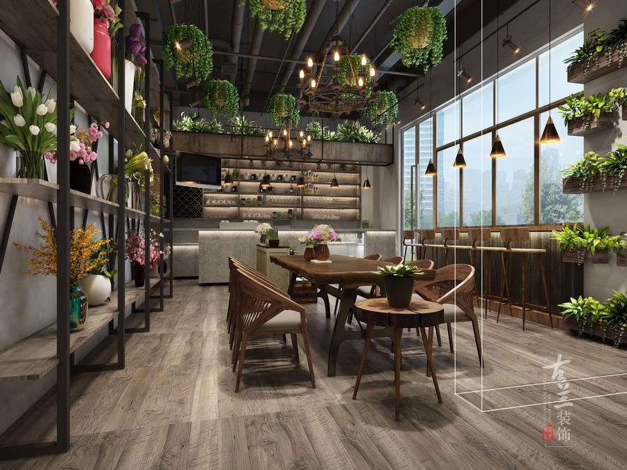 成都咖啡廳裝修設計花藝咖啡廳設計案例古蘭裝飾插图(5)