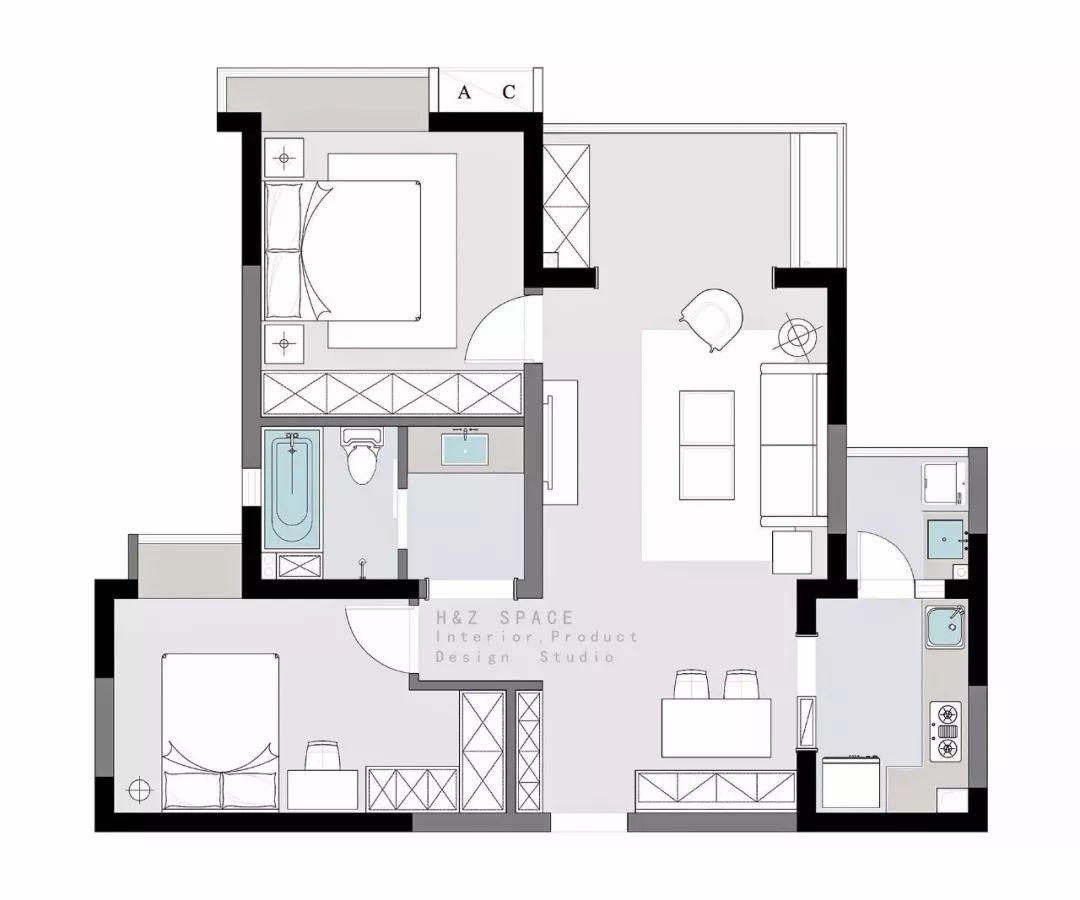 80㎡北歐住宅設計——佳期如夢插图1