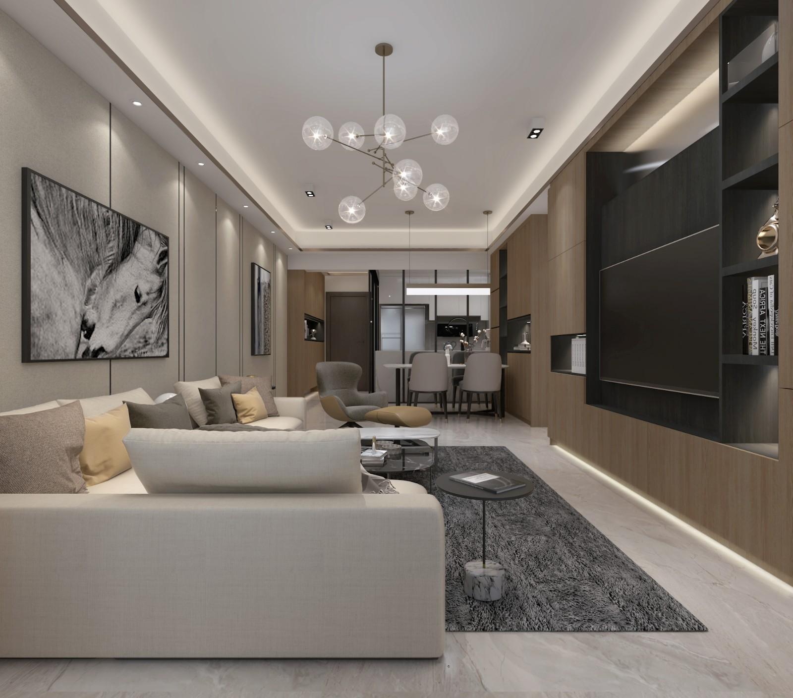 廣州 100m²混搭二居室  六品設計插图1
