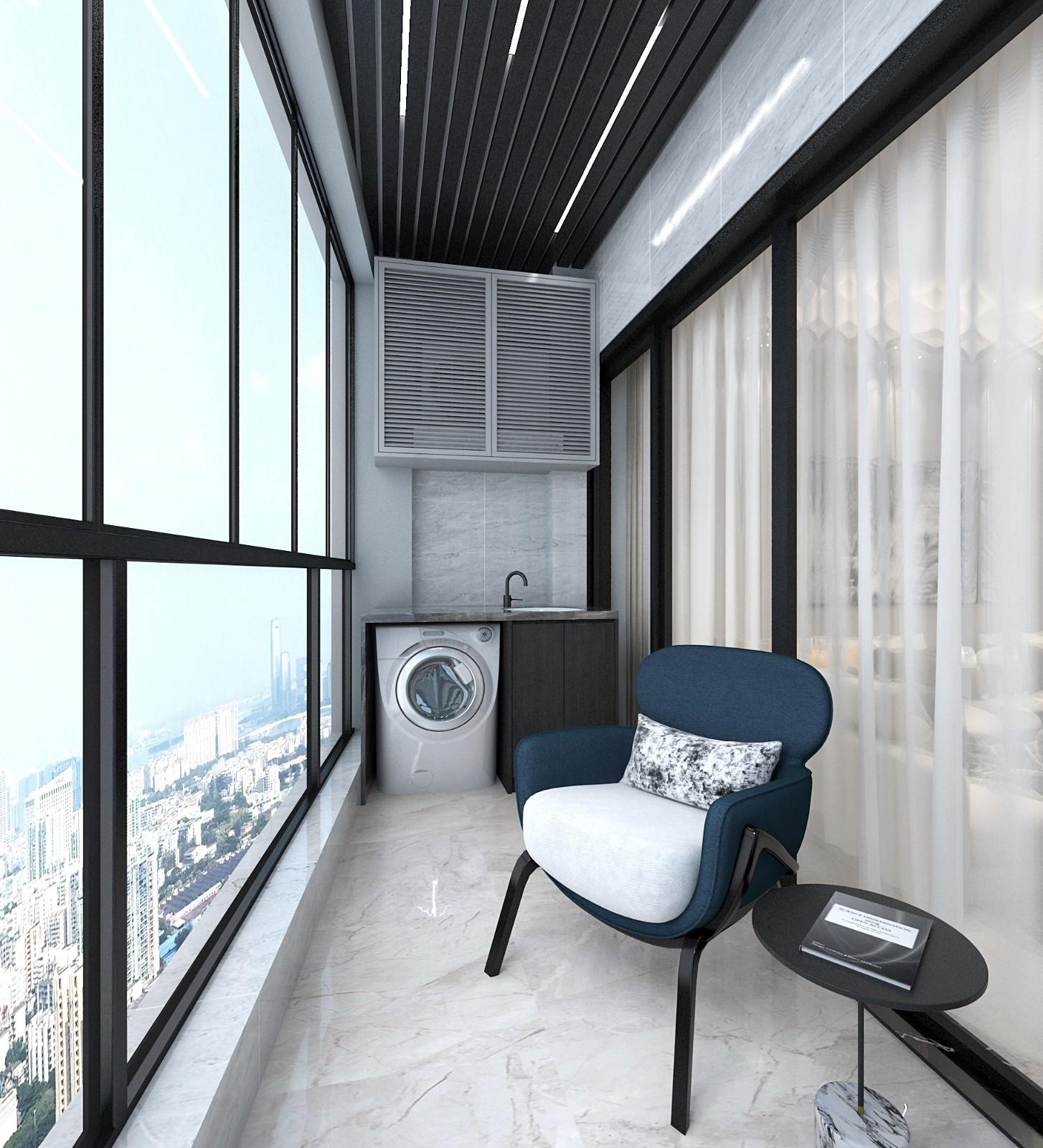 廣州 100m²混搭二居室  六品設計插图8