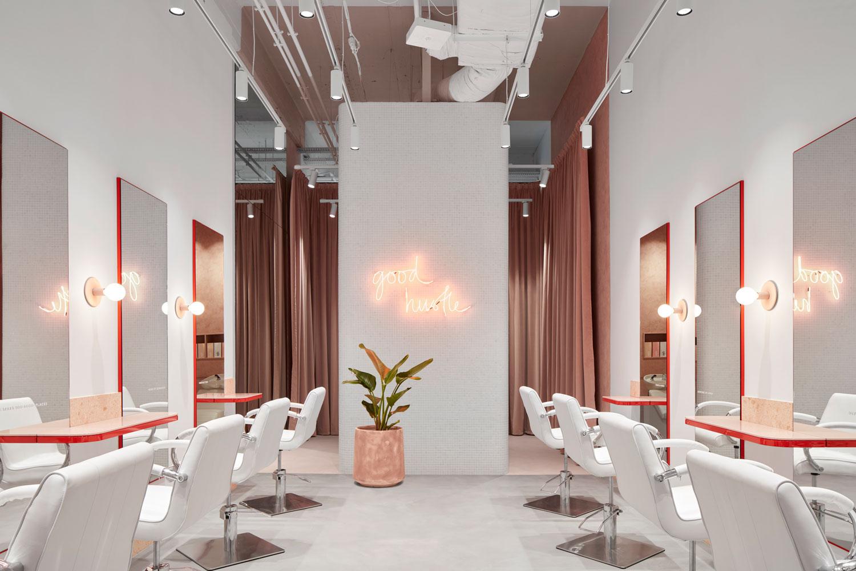 流動的粉色空間·墨爾本美發沙龍  TECTURE插图2