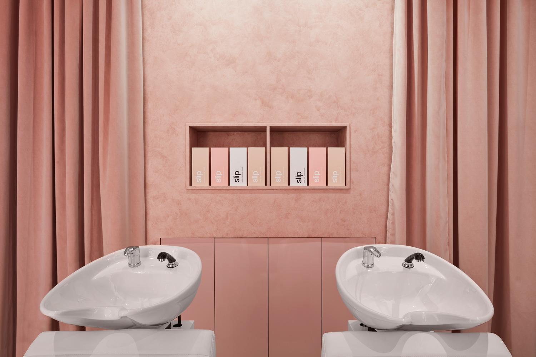 流動的粉色空間·墨爾本美發沙龍  TECTURE插图4
