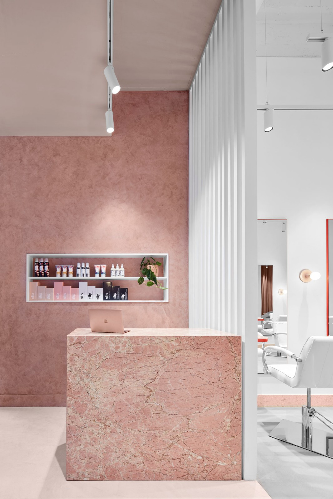 流動的粉色空間·墨爾本美發沙龍  TECTURE插图