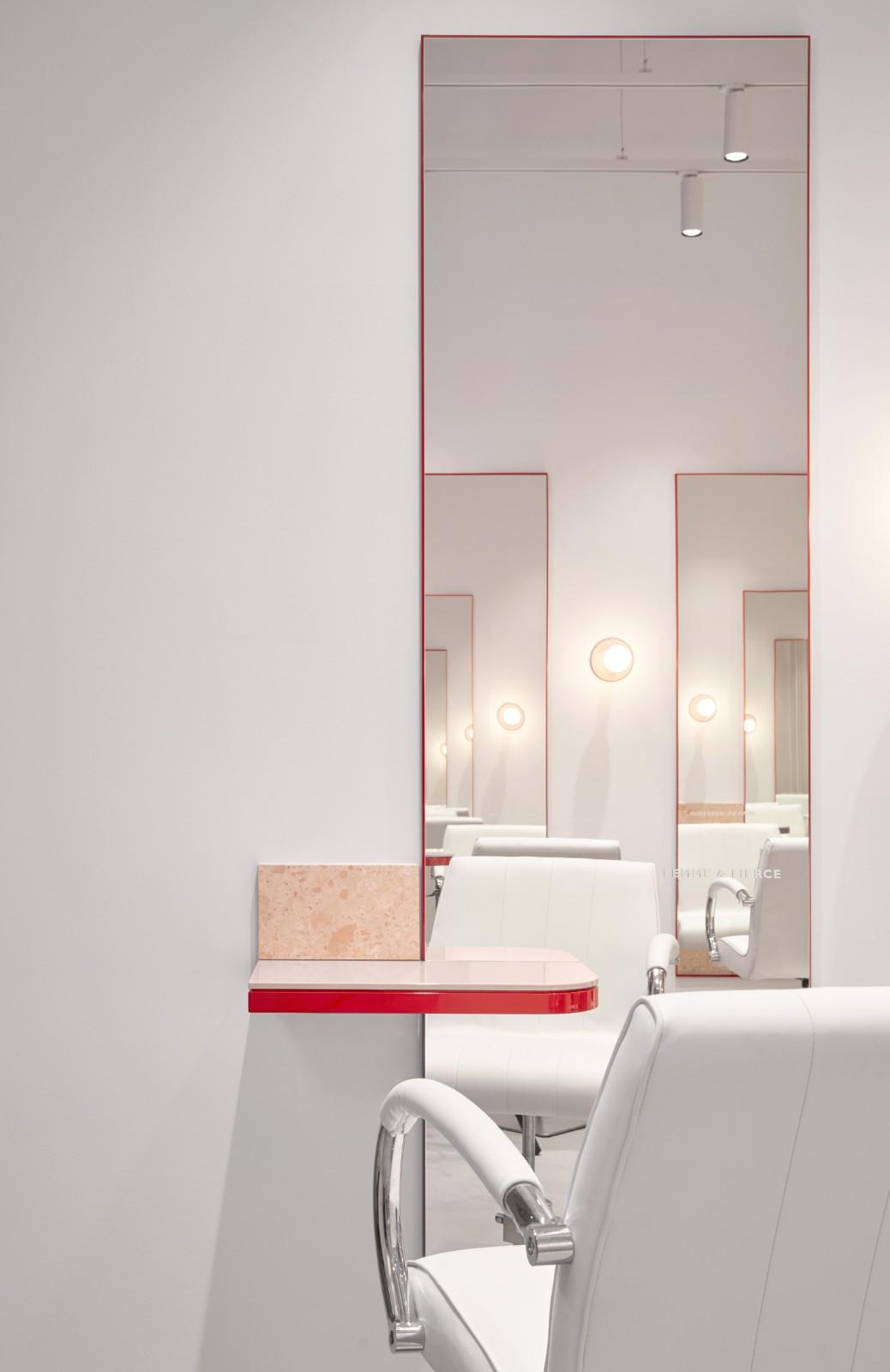流動的粉色空間·墨爾本美發沙龍  TECTURE插图6