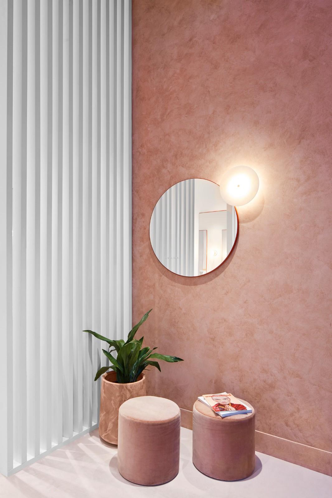 流動的粉色空間·墨爾本美發沙龍  TECTURE插图10