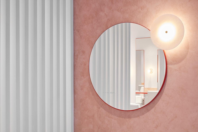 流動的粉色空間·墨爾本美發沙龍  TECTURE插图11