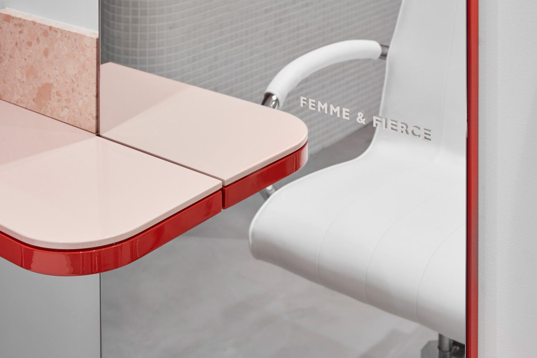 流動的粉色空間·墨爾本美發沙龍  TECTURE插图8