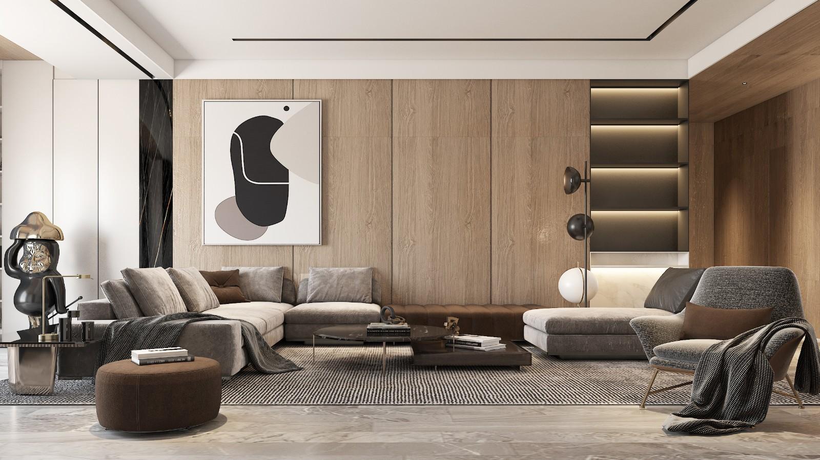 灰木色系住宅,幹凈優雅丨 崇德公館樣板間設計插图