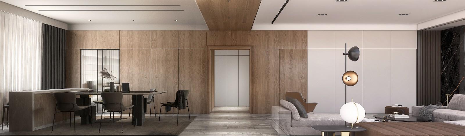 灰木色系住宅,幹凈優雅丨 崇德公館樣板間設計插图1