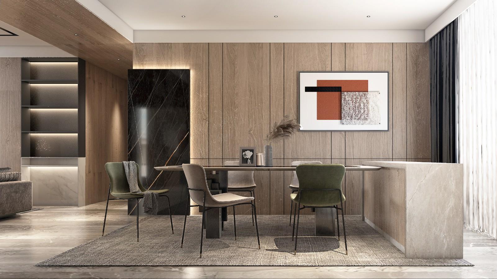 灰木色系住宅,幹凈優雅丨 崇德公館樣板間設計插图2