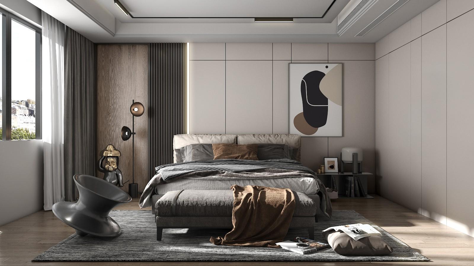 灰木色系住宅,幹凈優雅丨 崇德公館樣板間設計插图3